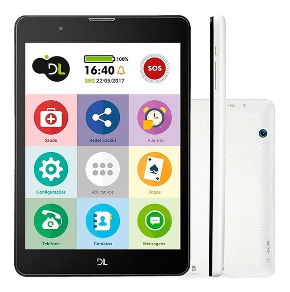 Tablet Tabfácil Dl Tela 7.85 Polegadas 3g Wi-fi 8gb Quad Co