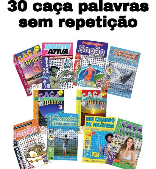 30 Caça Palavras Sem Repetição,revistas De 34 Páginas.