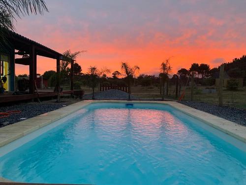 Casa Punta Del Diablo, Piscina Climatizada!! Promo Junio!