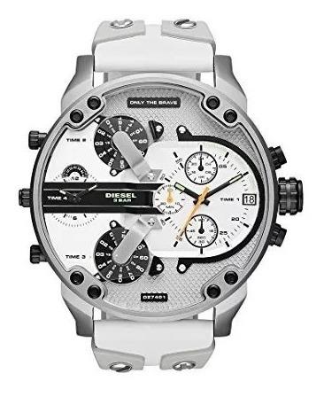 Relógio Wx2326 Diesel Mr Daddy Dz7401 Branco / Caixa
