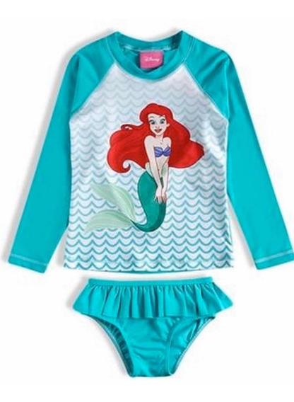 Conjunto Infantil Menina Sereia Ariel Disney Princesas