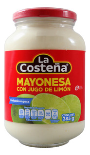 Mayonesa La Costeña Red En Grasa 385 Gr