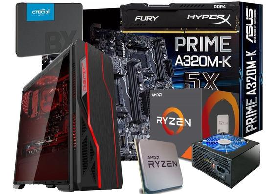 Pc Completo Ryzen 5 3400 Hyper X 8gb Ssd 480gb Fonte Real