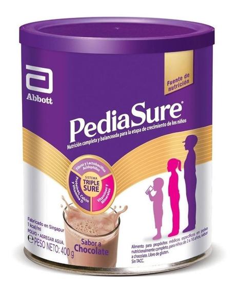 Leche de fórmula en polvo Abbott Pediasure Complete sabor chocolate en lata de 400g