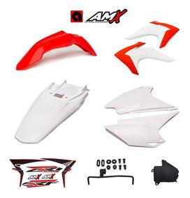 Kit De Plástico Amx Crf 230 2015 - 2018 Com Adesivo