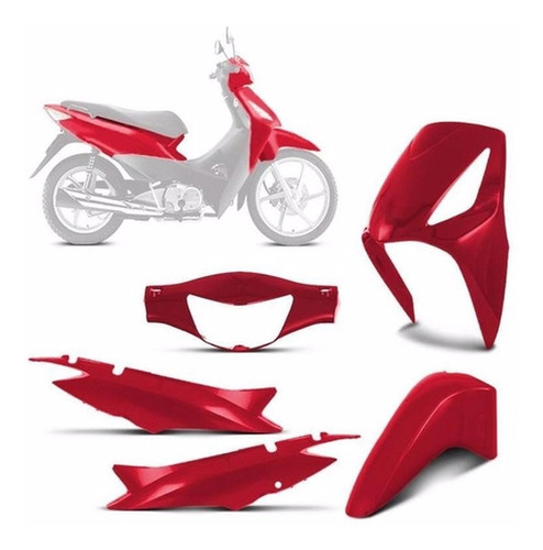 Kit Plasticos Carenagem Completo Honda Biz 125 2006 A 2010