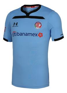 Jersey Under Armour Futbol Toluca Tercero Pro 19/20 Azul