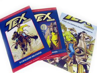 Lote 2 Primeiros Volumes Revista Tex Gold Quadrinhos Livro