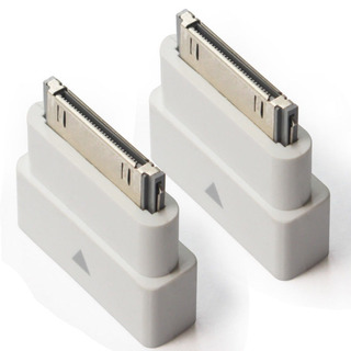 2 Blanco Dock Extender 30 Pin Adaptador Macho A Hembra iPod
