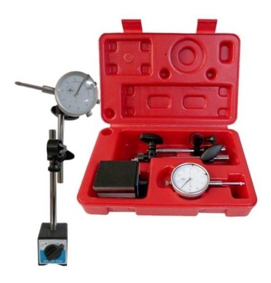 Calibrador Indicador Caratula 0-1 Inc Juego Base Magnética