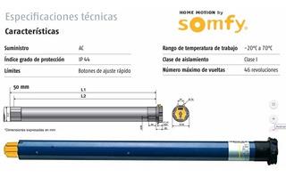 6pk Autatizacion Motor Cortina Enrollable Somfy Lt50 Al100%