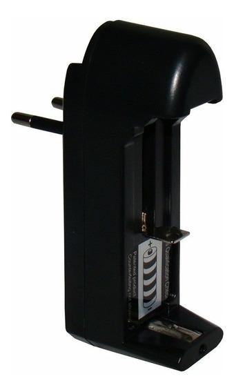 Carregador Bateria 14500 18350 18650 Lanterna Tatica Bivolt