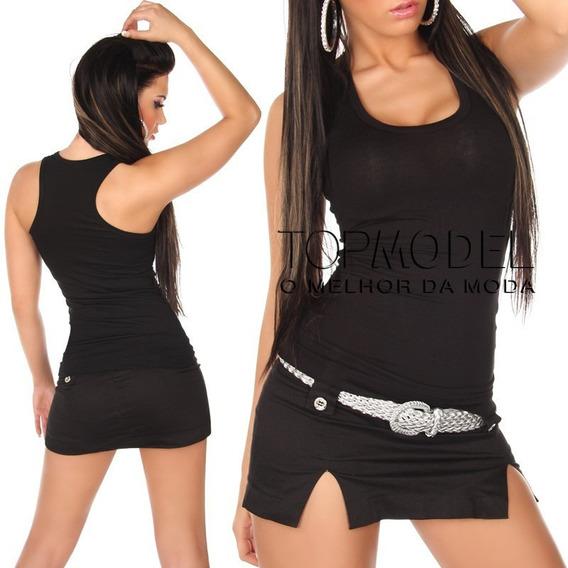 Camiseta Regata Feminina Viscolycra Blusinha T-shirt