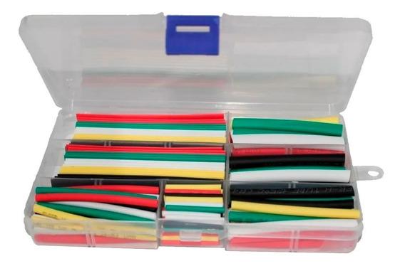Kit Thermofit Cables De 150pzs Colores Con Caja Plastica