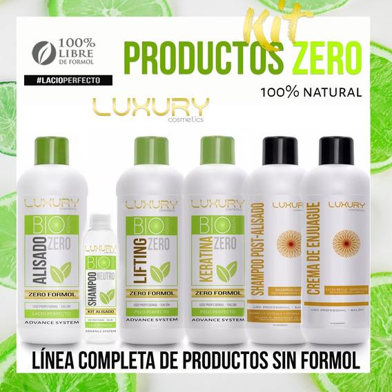 Alisado Sin Formol + Keratina + Lifting Zero + Env Pais