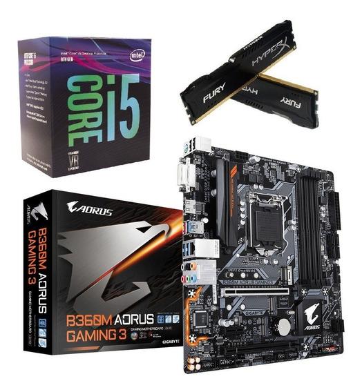 Kit 8ª Ger. I5 8400 Mb Aorus B360m Gaming 3 Hx 2x 8gb Fury