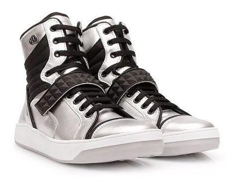 Tênis Sneaker Slim Hardcore Footwear 3731f Prata Original