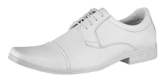 Sapato Branco Couro Ecológico Promoção