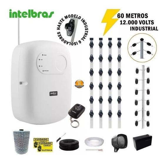 Kit Cerca Elétrica Industrial Residencia Intelbras 100 Metro