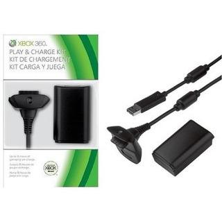 Kit Carga Y Juega Xbox 360, Batería 8000mah Y Cable Cargador