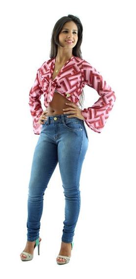 Kit 5 Calças Jeans Feminina Cintura Alta Preço De Fábrica