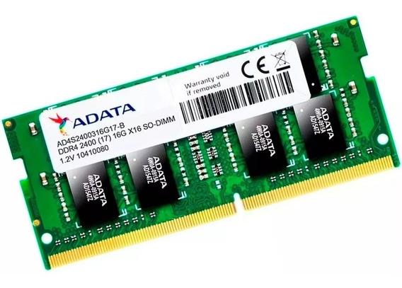 Memoria Ram Adata 1.2v Sodimm Ddr4 16gb 2400mhz Notebook