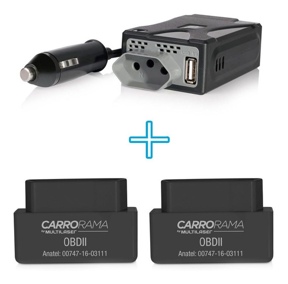 Kit Para Automovel Com 1 Inversor De Potencia + 2 Carrorama