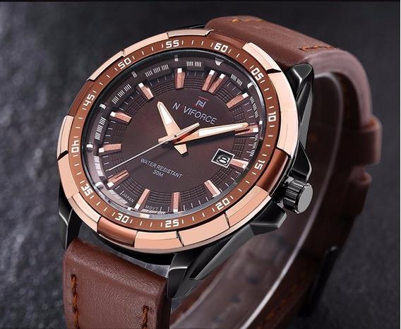 Relógio Masculino Naviforce Nf9056bce Original Marrom Top A
