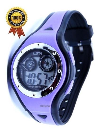 Relógio Digital Infantil Luz Alarme Cronometro Sport Unisex