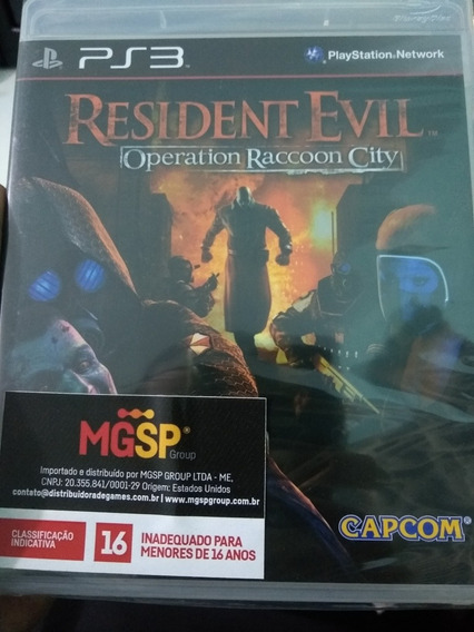 Resident Evil Operation Raccoon City Ps3 Original Midia Fisi