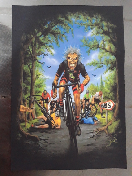 Backpatch Iron Maiden 28x20 - Bike, Ciclista, Ciclismo, Bmx