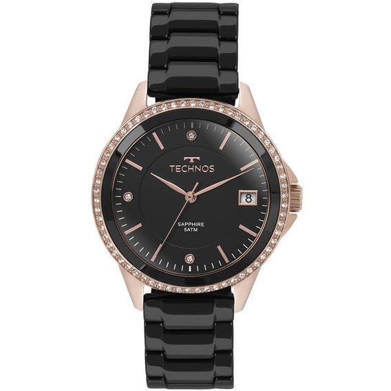 Relógio Technos 2315kzr/4p (cerâmica, Preto, Analógico)