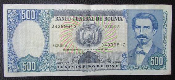 Bolivia Billete 500 Pesos Bolivianos Xf Año 1981 Pick 165