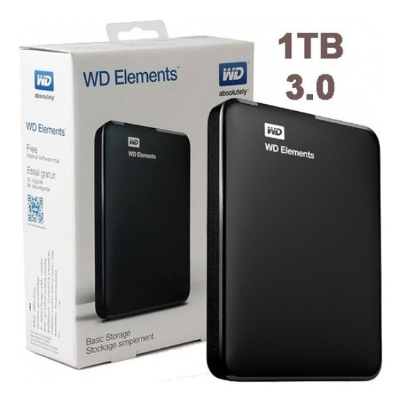 Disco Rigido Externo 1tb Western Digital Elements Original