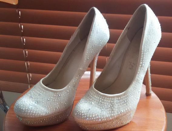 Zapatos De Fiesta - Usado Una Sola Vez