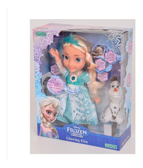 Muñeca Frozen Glowing Elsa Se Ilumina Ditoys. Quepeños