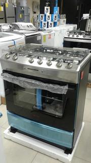 Cocina De 6 Hornillas Acero Inoxidable Con Rostizador 76 Cm