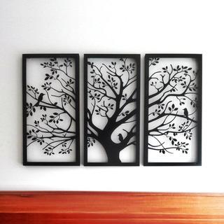 Cuadro Decorativo Tríptico Árbol De La Vida