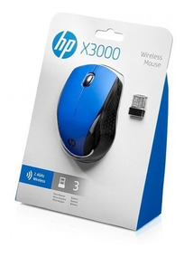 Mouse Usb Sem Fio Hp X3000 2.4ghz 1.600dpi Azul Original
