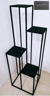 Macetero De Hierro Minimista Industrial - Forjatable