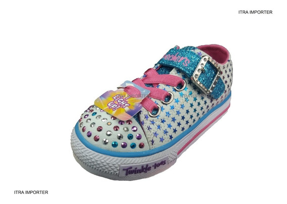 Tênis Skechers Twinkle Toes Infantil C/ Light Up