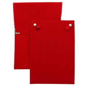 Envelope Veludo Grande Para Colar Vermelho