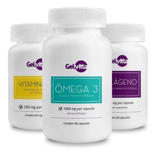Combo Vitta Beauty Ômega 3 + Vitamina D3 + Colágeno Cápsulas