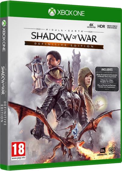 Jogo Sombras Da Guerra Definitive Xbox One Disco Fisico Novo