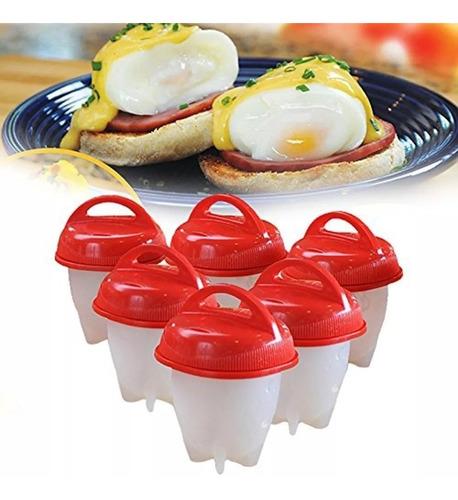 Imagem 1 de 8 de Magic Egg Forma Cozinhar Ovos Fit Água Silicone Egglettes