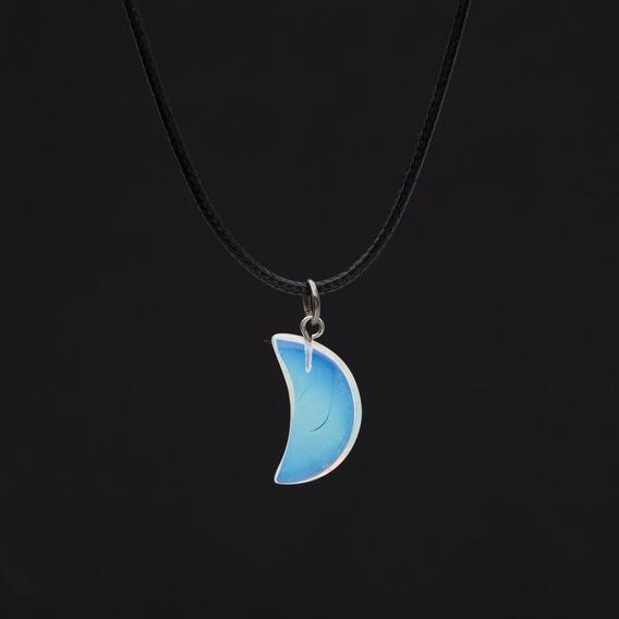 Cordão Colar Avano W-116 Pingente Pedra Da Lua Ajustável