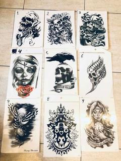 Tatuajes Temporales Medianos 21x15 Disfraces, Brazo, Pierna!