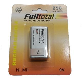 Bateria 9v Recargable 250mah Fulltotal Microfonos Tester