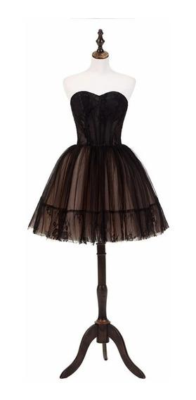 Vestido Fiesta Vintage Color Negro Envío Gratis P-110801