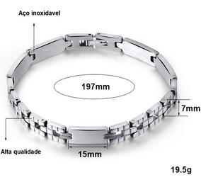 Pulseira Bracelete Unissex Masculina Feminina Aço Inox M15